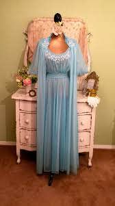 wedding peignoir sets 50s beaded chiffon nightie set 1950s sheer chiffon peignoir