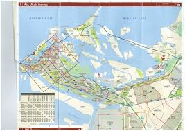 map of abu dabi abu dhabi in map major tourist attractions maps