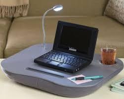 Laptop Desk With Cushion Led Light Portable Computer Desks Cushion Mat Laptop Table