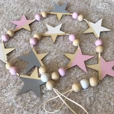 home decor hanging beads nordic wooden star and beads garland home decor kid u0027s room banners