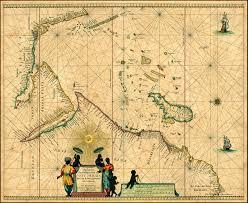 Cabo Map Pascaerte Van U0027t Westelycke Deel Van Oost Indien Van Cabo De Bona