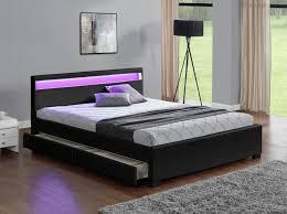 chambre avec lit noir lit lit rangement enfield 140 lits led chambre avec
