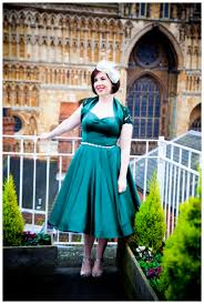 50 S Style Wedding Dresses A Vintage Wedding With A Green 50 U0027s Style Vivien Of Holloway Dress