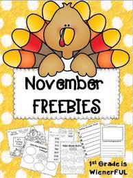 november freebies great for 1st 2nd grade enjoy