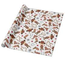 cowboy wrapping paper western birthday wrapping paper zazzle co uk