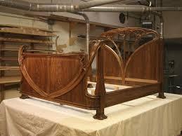 Best Bed Images On Pinterest  Beds Art Nouveau Furniture - Art nouveau bedroom furniture