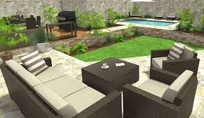 back yard designer design create and visualize outdoor areas with roomsketcher