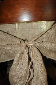 burlap chair sash easy burlap chair sashes lip gloss and power tools