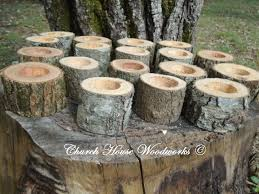 rustic wedding decorations for sale 75 rustic 2 wood candle holders sticks for votive candles