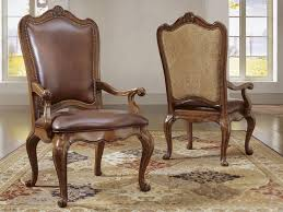 Leather Upholstery Chair Universal Furniture Villa Cortina Leather Upholstered Back Arm