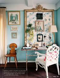 turquoise blue paint colors eclectic den library office