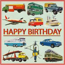 vintage transport birthday card dotcomgiftshop