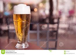 one drink table one glass of beer on the table stock image image 42745511