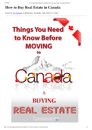 how to purchase a home in canada
