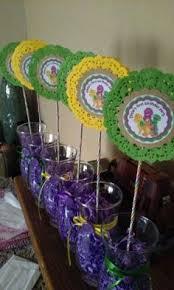 Diy Barney Decorations Barney Birthday Party Theme Barney Party Ideas Barney Theme