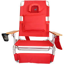 Kelsyus Premium Canopy Chair Red by Ostrich Deluxe 3n1 Beach Chair Lounger Red Beachstore Com