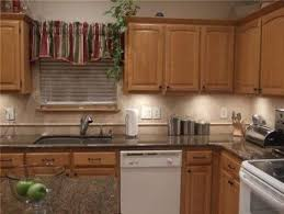 kitchen backsplash with oak cabinets and white appliances kitchen backsplash with granite oak cabinets white