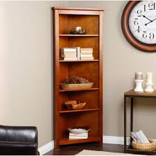 furniture triangle brown wooden books shelves with many shelves