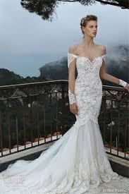 michal medina 2016 off shoulder lace bridal dresses flora plunging