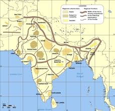 India Physical Map by Cultural Regional Areas Of India Map Maps Of India