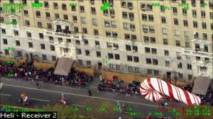 flew drone macy s thanksgiving day parade cbs