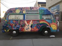 volkswagen van hippie street art and graffiti in san diego graffiti 1 vw bus ocean beach