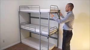 Tri Bunk Beds Uk Bedding Sellex La Literal Folding Bunk Bed 200 X 90cm Contemporary