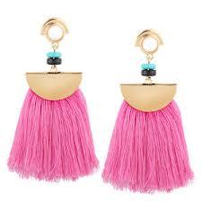 pink drop earrings zara pink trendy style tassel drop earrings ebay