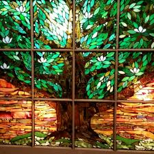 stained glass mosaic magnolia tree window chanda froehle more within