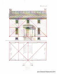 House Elevation Dimensions by Jane Griswold Radocchia Owen Biddle U0027s U0027plan And Elevation For A