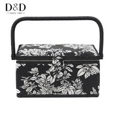 Handmade Fabric Crafts - d d new handmade fabric crafts sewing basket with free gift black