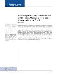 proprioceptive acuity assessment via joint position matching from