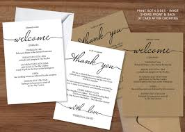Wedding Itinerary Welcome U0026 Itinerary Cards Archives The Stationery Concierge
