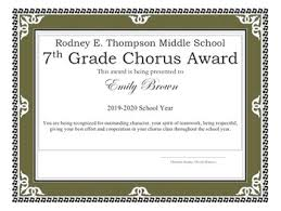 chorus award certificate template by christine stanley tpt