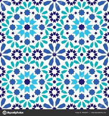 geometric seamless pattern moroccan tiles design seamless blue