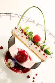 cuisine tv les desserts de benoit tapis végétal fromage blanc framboises fleurs de cerisier et