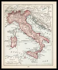 Best 10 Map Of Italy by Small Italy Map Of Italy Italian Map Wall Decor Vintage