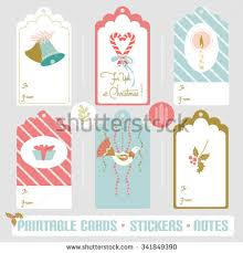 elegant christmas gift tag collection ink stock vector 347898215