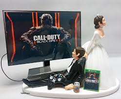 gamer cake topper cod blk ops iii version 2 wedding cake topper gamer xbox one ps4