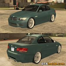 bmw m3 challenge mods gta san andreas 2008 bmw m3 convertible mod gtainside com