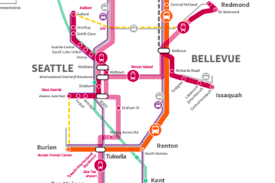 Seattle Link Rail Map Sound Transit 3 Plan Calls For Second Downtown Seattle Tunnel 108
