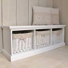 White Storage Bench Storage Bench White Treenovation
