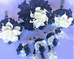 wedding flowers blue and white blue white bouquet nautical bouquet navy blue bouquet white
