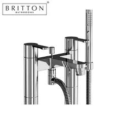 britton crystal floorstanding bath shower mixer uk bathrooms