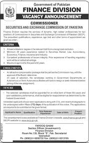 Jobs Economics Degree by Finance Division Pakistan Jobs 2017 In Islamabad Auhda