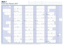 yearly planner template mark it giant 2017 wall year planner amazon co uk office products