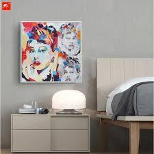 audrey hepburn home decor aliexpress com buy audrey hepburn pop colour street graffiti art