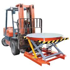 Pallet Lift Table by Stainless Spring Loaded Lift Table Capacity 2000kg Diameter 1120mm