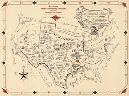 A Picture Of The Map Of The United States by A Texan U0027s Map To The United States Of Texas