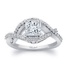 princess cut white gold engagement ring barkev s white gold princess cut engagement ring 8081l